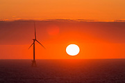 Wind Turbine Farm off the coast of Block Island, Rhode Island