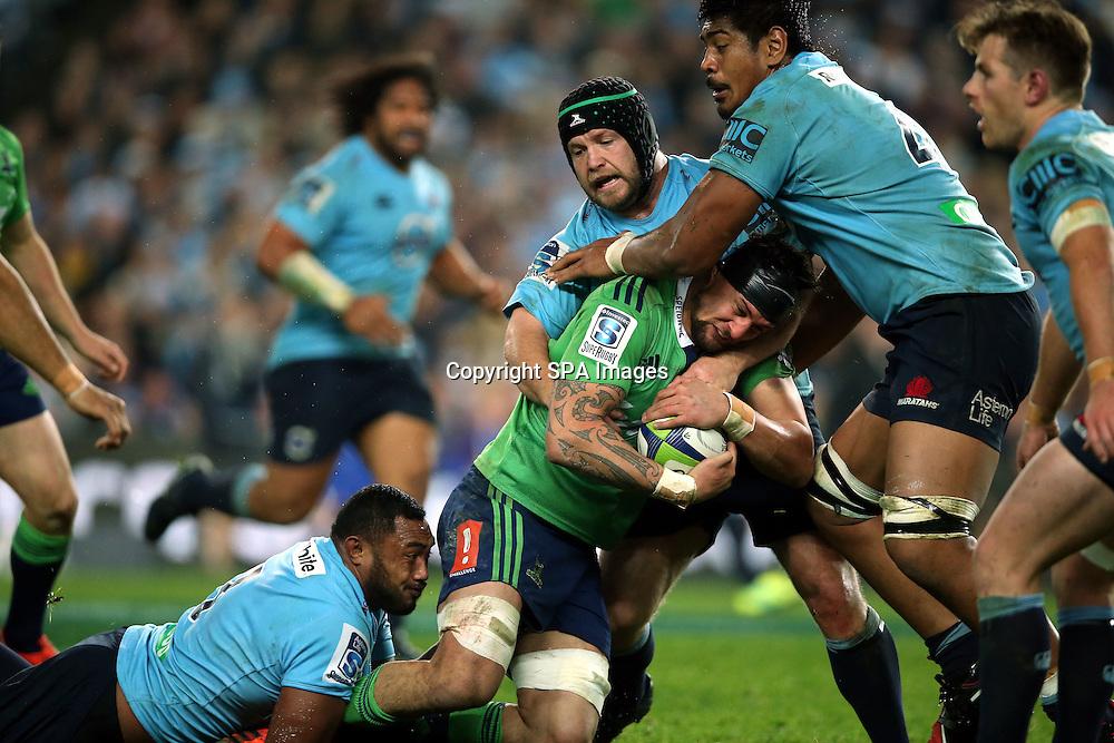 Elliot Dixon, NSW Waratahs v Otago Highlanders Semi Final. Sport Rugby Union Super Rugby Domestic Provincial. Allianz Stadium SFS. 27 June 2015. Photo by Paul Seiser/SPA Images