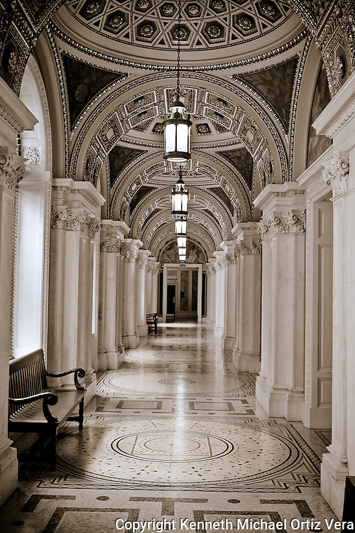 Hallway in the Library of Congress in Washington D.C.