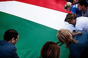 Manifestazione di chiusura della campagna elettorale di Fratelli d'Italia in occasione delle Elezioni Europee, Roma 21 Maggio 2014.  Christian Mantuano / OneShot