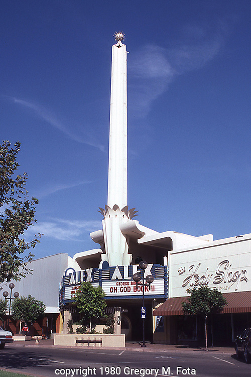 ALEX THEATER --Art Deco theater building,California.11011980