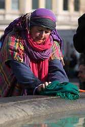 Trafalgar Square, London, March 25th 2016. Thousands of Londoners an tourists in Trafalgar Square are treated to The Passion of Jesus, a re-enactment of the events leading up to the crucifixion and resurrection of Jesus Christ. PICTURED: . <br /> &copy;Paul Davey<br /> FOR LICENCING CONTACT: Paul Davey +44 (0) 7966 016 296 paul@pauldaveycreative.co.uk
