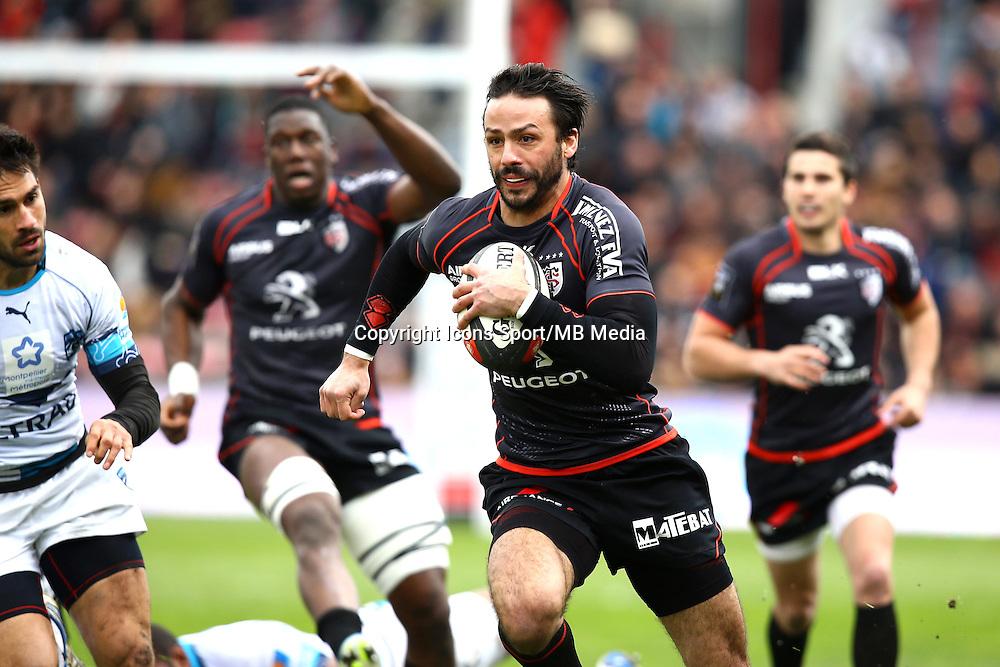 Clement Poitrenaud - 14.03.2015 - Toulouse / Montpellier - 20e journee Top 14<br /> Photo : Manuel Blondeau / Icon Sport