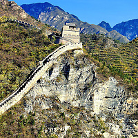 Great Wall of China at Juyongguan from Ming Dynasty in Beijing, China<br />