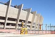 Belo Horizonte_MG, Brasil.<br /> <br /> Reforma do estadio Governador Magalhaes Pinto, Mineirao, em Belo Horizonte, Minas Gerais.<br /> <br /> Works in Governador Magalhaes Pinto stadium, Mineirao, in Belo Horizonte, Minas Gerais.<br /> <br /> Foto: RODRIGO LIMA / NITRO