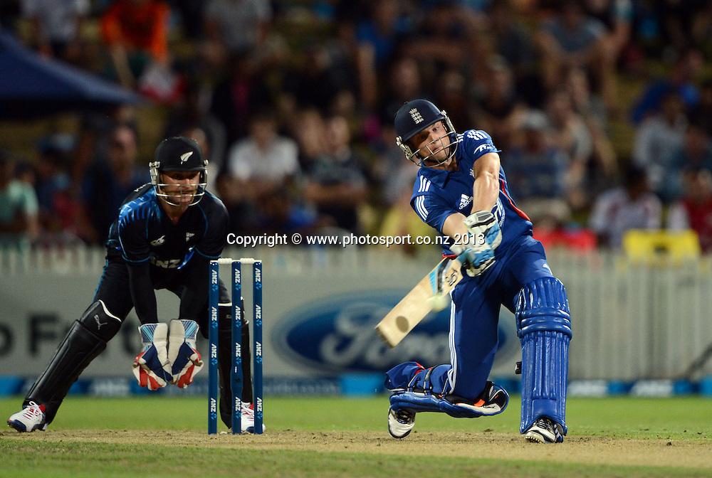 Jos Buttler. ANZ T20 Series. 2nd Twenty20 Cricket International. New Zealand Black Caps versus England at Seddon Park, Hamilton, New Zealand. Tuesday 12 February 2013. Photo: Andrew Cornaga/Photosport.co.nz