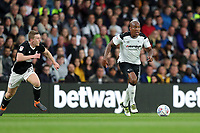 DERBY, ENGLAND - MAY 11: - DCFC vs Fulham. Andre Wisdom, goes on the attack