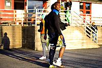 06.04.2014,<br /> Fotball, 1. Divisjon, Adeccoligaen , <br /> Strømmen - Krisitiansund <br /> Karamoko Samba går i garderoben med skadet fot<br /> Foto: Sjur Stølen , Fredrikstad Blad