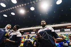 Panos Mayindombe of Bristol Flyers looks on - Rogan/JMP - 14/10/2018 - BASKETBALL - Copper Box Arena - London, England - British Basketball All-Stars Championship 2018.