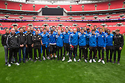Forest Green Rovers players and staff Forest Green Rovers Football Club Familiarisation visit to Wembley Stadium, London, England on 10 May 2016. Photo by Shane Healey.
