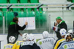 Head coach Hannu Järvenpää at first practice for HDD Tilia Olimpija ice hockey players in season 2011/12 on August 1, 2011, in Hala Tivoli, Ljubljana, Slovenia. (Photo by Matic Klansek Velej / Sportida)