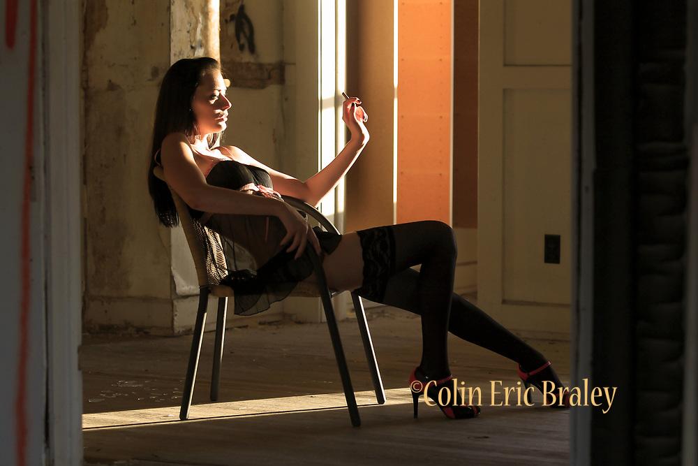 Unique, creative, tasteful and fun non studio boudoir, lingerie, photo session by award-winning Kansas City, Missouri, Kansas, photographer, Colin E. Braley