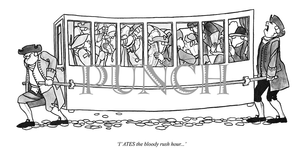 'I' ATES the bloody rush hour...'