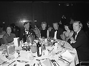 Notre Dame Des Missions Debutante Ball  (N51)..1980..15.11.1980..11.15.1980..15th November 1980..The Notre Dame Des Missions Convent School held the 18th annual Debutantes Ball. The ball was held in Jury's Hotel,Ballsbridge ,Dublin. The convent school is located in Churchtown,Dublin 14.Picture taken at The Notre Dame Des Missions 18th Debs ball of Mr and Mrs Michael Lucey, (Irish Life), Mr and Mrs Kevin Callan (Sisk) and Mr and Mrs Diarmuid O'Broin, (IMI)