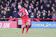 Russell Penn (captain) of York City FC celebrates his goal to make it 0-1 to York City during the Sky Bet League 2 match between AFC Wimbledon and York City at the Cherry Red Records Stadium, Kingston, England on 19 March 2016. Photo by Stuart Butcher.