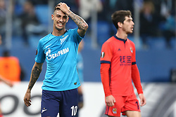September 28, 2017 - Saint Petersburg, Russia - Emiliano Rigoni of FC Zenit Saint Petersburg reacts during the UEFA Europa League Group L football match between FC Zenit Saint Petersburg and FC Real Sociedad at Saint Petersburg Stadium on September 28, 2017 in St.Petersburg, Russia. (Credit Image: © Igor Russak/NurPhoto via ZUMA Press)
