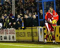Photo: Chris Ratcliffe.<br />Colchester United v Bristol City. Coca Cola League 1. 17/01/2006.<br />Colchester's young fans watch on.
