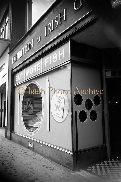 24/10/1962<br /> 10/24/1962<br /> 24 October 1962<br /> N.A.I.D.A. window display for Bord Iascaigh Mhara at St Stephens Green, Dublin.