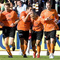 St Johnstone v Dundee United..26.09.09<br /> Danny Cadamarteri celebrates scoring from the spot to give Dundee Uts a 1-0 lead<br /> Picture by Graeme Hart.<br /> Copyright Perthshire Picture Agency<br /> Tel: 01738 623350  Mobile: 07990 594431