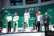 June 8-11, 2017: Canadian Grand Prix. Lewis Hamilton (GBR), Mercedes AMG Petronas Motorsport, F1 W08, Valtteri Bottas (FIN), Mercedes AMG Petronas Motorsport, F1 W08, Daniel Ricciardo (AUS), Red Bull Racing, RB13