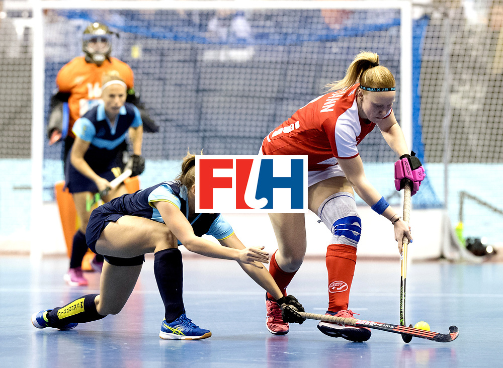 BERLIN - Indoor Hockey World Cup<br /> Quarterfinal 2: Ukraine - Switzerland<br /> foto: BUGMANN Karin.<br /> WORLDSPORTPICS COPYRIGHT FRANK UIJLENBROEK