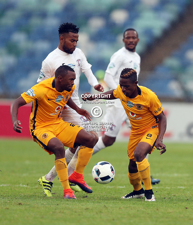 Bernard Parker and Michelle Katsvairo of Kaizer Chiefs during the Telkom Knockout quarterfinal  match between Kaizer Chiefs and Free State Stars at the Moses Mabhida Stadium , Durban, South Africa.6 November 2016 - (Photo by Steve Haag Kaizer Chiefs)