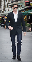 © Licensed to London News Pictures. 05/12/2017. London, UK. HUGH JACKMAN arrives at Global Radio Studios in London. Photo credit: Vickie Flores/LNP