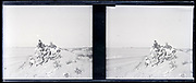 large group posing on top of a dune early 1900s summer vacation France