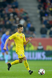 November 14, 2017 - Bucharest, Romania - Cristian Ganea (Rom) during International Friendly match between Romania and Netherlands at National Arena Stadium in Bucharest, Romania, on 14 november 2017. (Credit Image: © Alex Nicodim/NurPhoto via ZUMA Press)