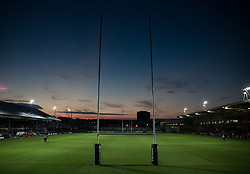 A general view of Rodney Parade, home of Dragons<br /> <br /> Photographer Simon King/Replay Images<br /> <br /> Guinness PRO14 Round 1 - Dragons v Benetton Treviso - Saturday 1st September 2018 - Rodney Parade - Newport<br /> <br /> World Copyright © Replay Images . All rights reserved. info@replayimages.co.uk - http://replayimages.co.uk