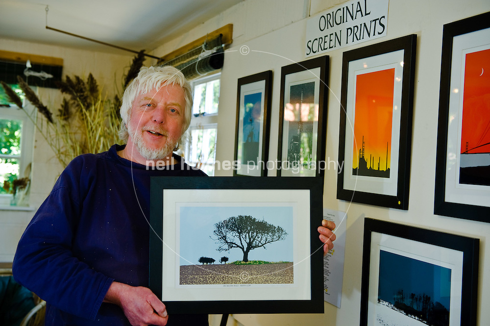 John R. Burrows, screen printer and artist, Bishop Wilton village East Yorkshire