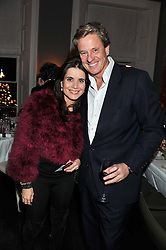 BEATRIZ NASR and ROBERT HERSOV at a dinner for the Serpentine Gallery's Council held at Morton's, Berkeley Square, London on 5th December 2011.