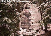 Northeast PA Landscape, ice and snow, waterfalls, Bear Creek, Pennsylvania