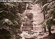 Northeast PA Landscape, ice and snow, waterfalls, Bear Creek, Pennsylvania