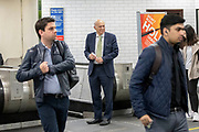 UNITED KINGDOM, London: 22 May 2019 <br /> Leader of the Liberal Democratics Vince Cable heads back down to the underground of Archway Station, North London after joining volunteers for a final push ahead of the European election campaign. Vince Cable joined activists for a rally speech and leafleting in Jeremy Corbyn's own constituency.<br /> Rick Findler / Story Picture Agency