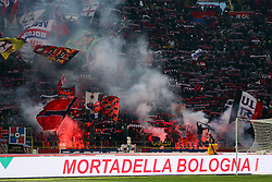 "Foto Filippo Rubin<br /> 24/02/2018 Bologna (Italia)<br /> Sport Calcio<br /> Bologna - Genoa - Campionato di calcio Serie A 2017/2018 - Stadio ""Renato Dall'Ara""<br /> Nella foto: I TIFOSI DEL BOLOGNA<br /> <br /> Photo by Filippo Rubin<br /> February 24, 2018 Bologna (Italy)<br /> Sport Soccer<br /> Bologna vs Genoa - Italian Football Championship League A 2017/2018 - ""Renato Dall'Ara"" Stadium <br /> In the pic: BOLOGNA SUPPORTERS"
