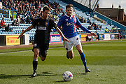 Mansfield Town Midfielder Matty Blair on the attack during the Sky Bet League 2 match between Carlisle United and Mansfield Town at Brunton Park, Carlisle, England on 9 April 2016. Photo by Craig McAllister.