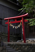 A Shinto arch at a shrine.