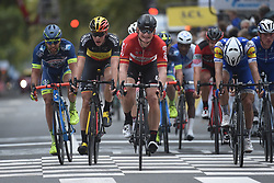October 8, 2017 - Tours, France - TOURS, FRANCE - OCTOBER 8 : NAESEN Oliver (BEL) Rider of Team AG2R La Mondiale, GREIPEL Andre (GER) Rider of Team Lotto - Soudal during the 111th edition of the Paris-Tours cycling race with start in Brou and finish in Tours on October 08, 2017 in Tours, France, 8/10/2017 (Credit Image: © Panoramic via ZUMA Press)