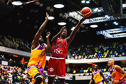 Daniel Edozie in action as Bristol Flyers play London Lions - Rogan/JMP - 14/10/2018 - BASKETBALL - Copper Box Arena - London, England - British Basketball All-Stars Championship 2018.