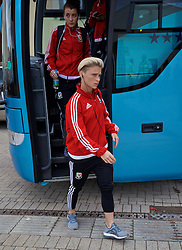 CARDIFF, WALES - Friday, August 19, 2016: Wales' Jessica Fishlock arrives at Rodney Parade ahead of the international friendly match against Republic of Ireland at Rodney Parade. (Pic by David Rawcliffe/Propaganda)