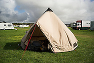 Goodwood Revival 2015, half way taking down my Roebens Klondike bell tent it rained, so I let it flap in the wind a bit to dry. it did. loved sleeping in this tent.