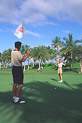 Golfing, Hawaii, USA<br />