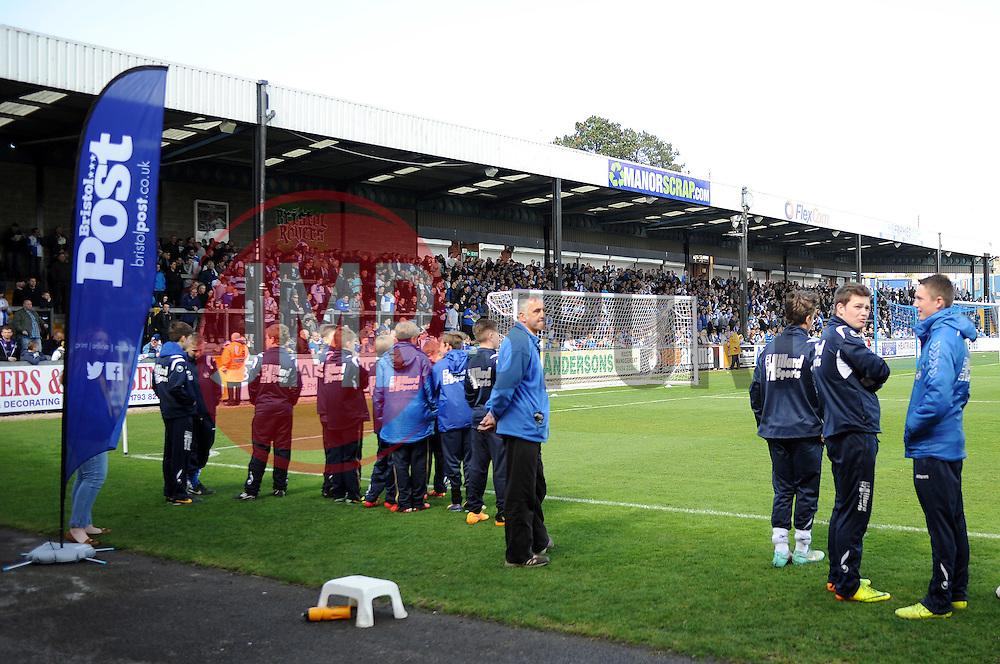 Bristol Rovers fans - Photo mandatory by-line: Neil Brookman/JMP - Mobile: 07966 386802 - 11/04/2015 - SPORT - Football - Bristol - Memorial Stadium - Bristol Rovers v Southport - Vanarama Football Conference