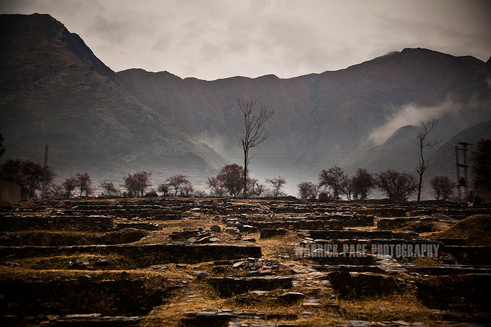 The ruins of a Gandharan buddhist monastery is seen in the Swat Valley, on February 12, 2011, outside Mingora, Pakistan. The Kingdom of Gandhara lasted from early 1st millennium BC to the 11th century AD, and was located in northern Pakistan and eastern Afghanistan. (Photo by Warrick Page)