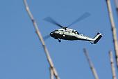 Amerikaanse Militaire helikopters boven Zaanstad