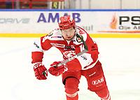 2018-11-14 | Ljungby, Sweden: Troja-Ljungby (14) Johan Lindholm during the game between Troja Ljungby and Mörrums GoIS at Ljungby Arena ( Photo by: Fredrik Sten | Swe Press Photo )<br /> <br /> Keywords: Icehockey, Ljungby, HockeyEttan, Troja Ljungby, Mörrums GoIS, Ljungby Arena div1, division, troja, ljungby, mörrum, gois,