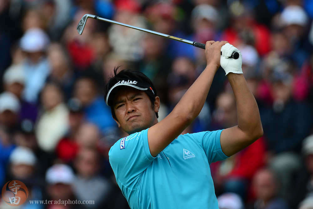 July 20, 2012; St. Annes, ENGLAND; Toshinori Muto tees off on the 5th hole during the second round of the 2012 British Open Championship at Royal Lytham & St. Annes Golf Club.