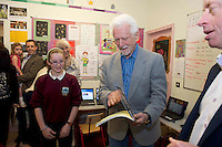 "06/06/2014  Marty Cooper (the inventor of the mobile phone) and his wife Arlene Harris the ""first lady of wireless"" who popped into Kiltiernan National School Co. Galway.Photo:Andrew Downes"