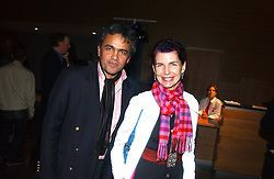 MR BALDASSARE LA RIZZA and MISS NATHALIE HAMBRO at the launch party for 'The London Look - Fashion From Street to Catwalk' held at the Museum of London, London Wall, Londom EC2 on 28th October 2004<br />